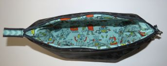Brennender-Schuh - Windeltasche nähen Reißveschluss genäht Baby Junge Roboter-Jersey, Kulturtasche
